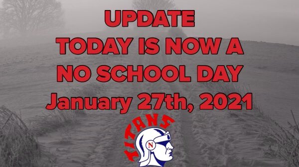 Good morning Titans! ☃️☃️☃️ SNOW DAY #3️⃣‼️ Be safe out there! We will see you tomorrow! 💙❤️@JCPiening @jmkernes #bethereason #benorris #bekind