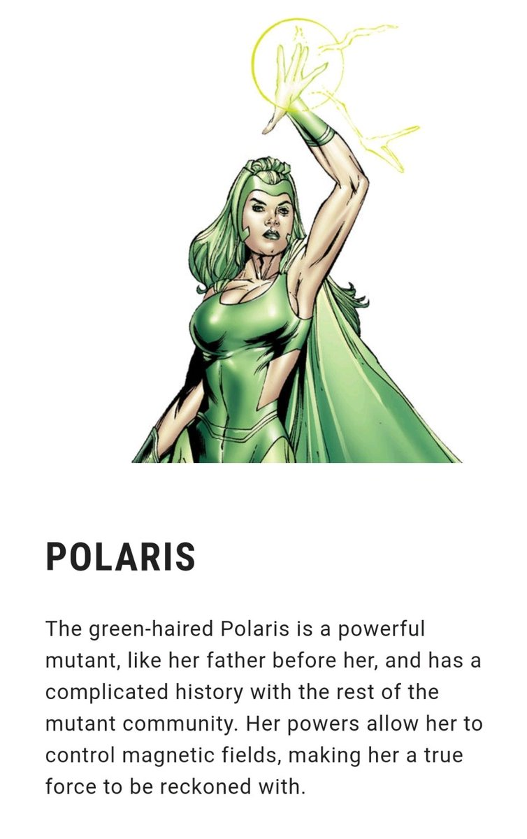 #XMenVote Polaris, I personally think she's one of the cool ones...