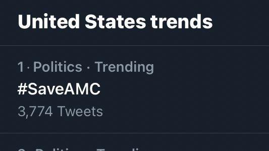 SaveAMC hashtag on Twitter