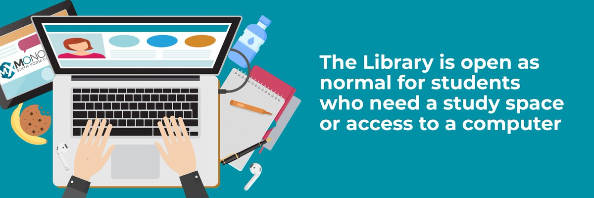Students still have a safe space to study if they need it. Lessons are online but our Library is open for students to study - Check our the Monoux Hub for more information on opening times etc  #WednesdayMotivation 📚🏆
