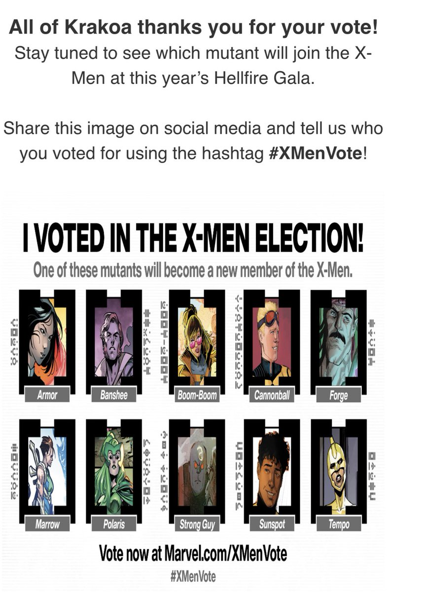#XMenVote i voted for Forge!