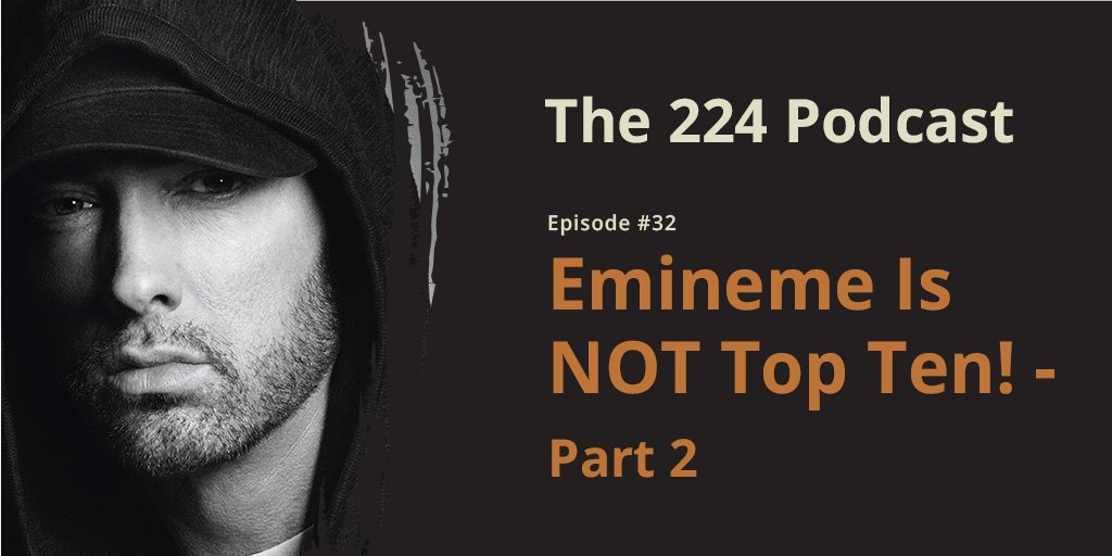 Part two of our discussion on whether #Eminem is top ten of all-time or not. Today, Tyson goes through his top ten list and we end the debate on the beef between #SnoopDogg and Eminem. #wednesdaythought #Wednesdayvibe #hiphop