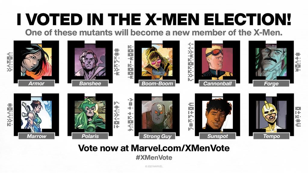I love Banshee, but frankly he deserves a vacation/secretly seeing Moira. And since #XMenVote has amazing candidates, I prefer not to vote for the oldest white male option.  Tempo it is!