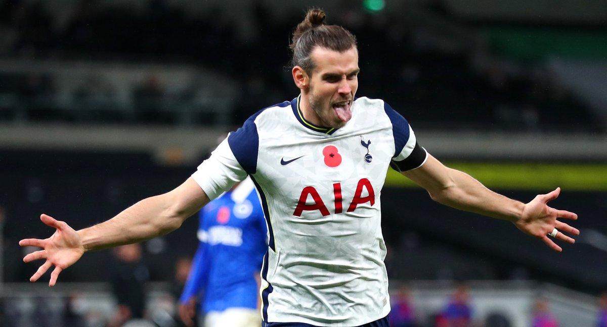 🔝 El gran Gareth Bale es el único jugador del Tottenham que ha marcado gol esta temporada en 4 diferentes torneos!  ⚽️ #UEL vs LASK. ⚽️ #EPL vs Brighton.  ⚽️ #FACup vs Wycombe. ⚽️ #CarabaoCup vs Stoke.  🔥🔥🔥🔥