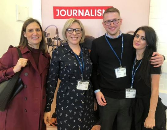 Looking forward to when we can get back to doing things like this.  Here's a #throwback to when our Sarah & @KerryGanly took part in a careers day with journalism students @DerbyUni alongside fellow ex @derbyshire_live journos @JonathanBonell & @AmyGuardDT
