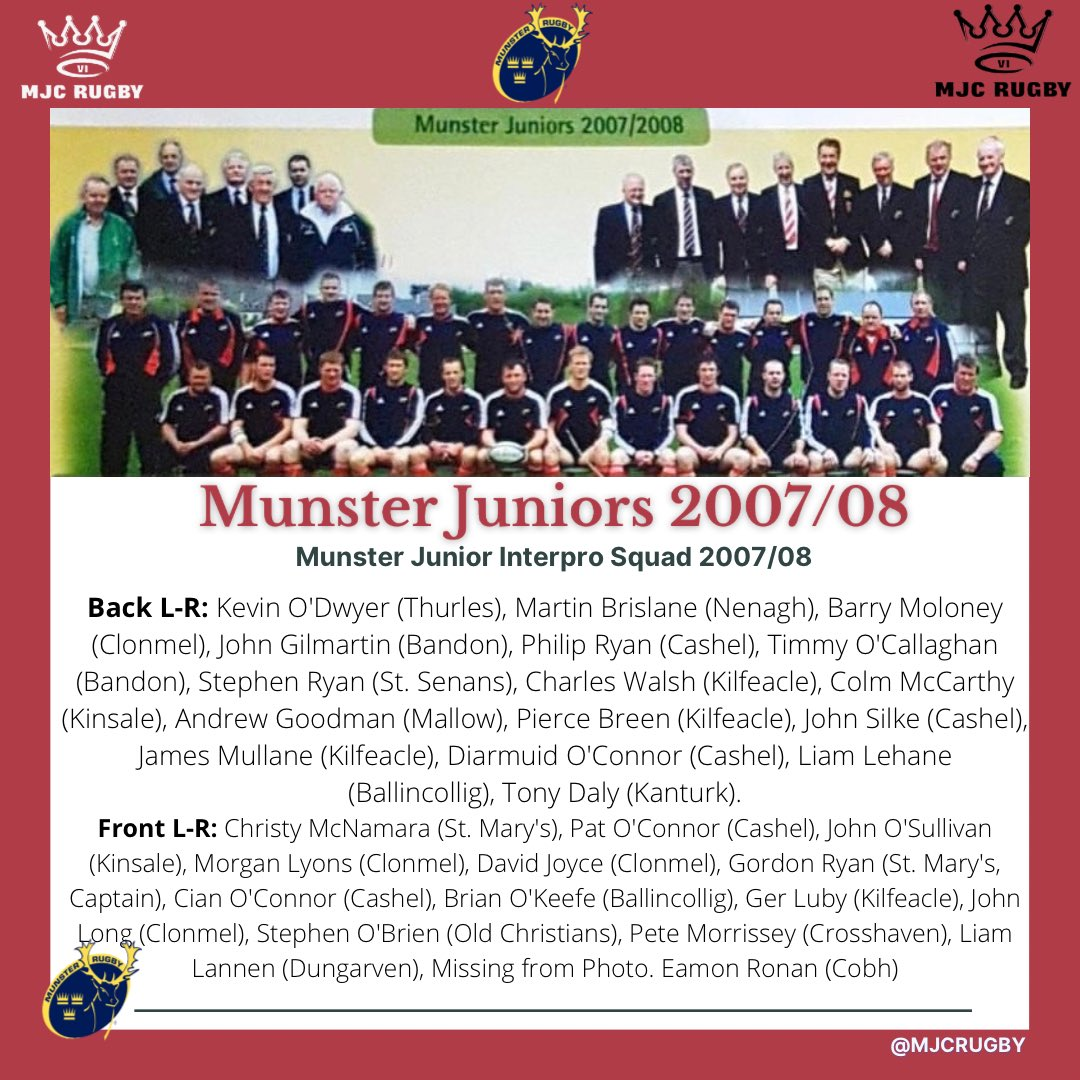 Correct & Right now as far as we know👍😅  A Retweet would be much appreciated! #mjcrugby #munsterjuniors #throwback @Munsterrugby