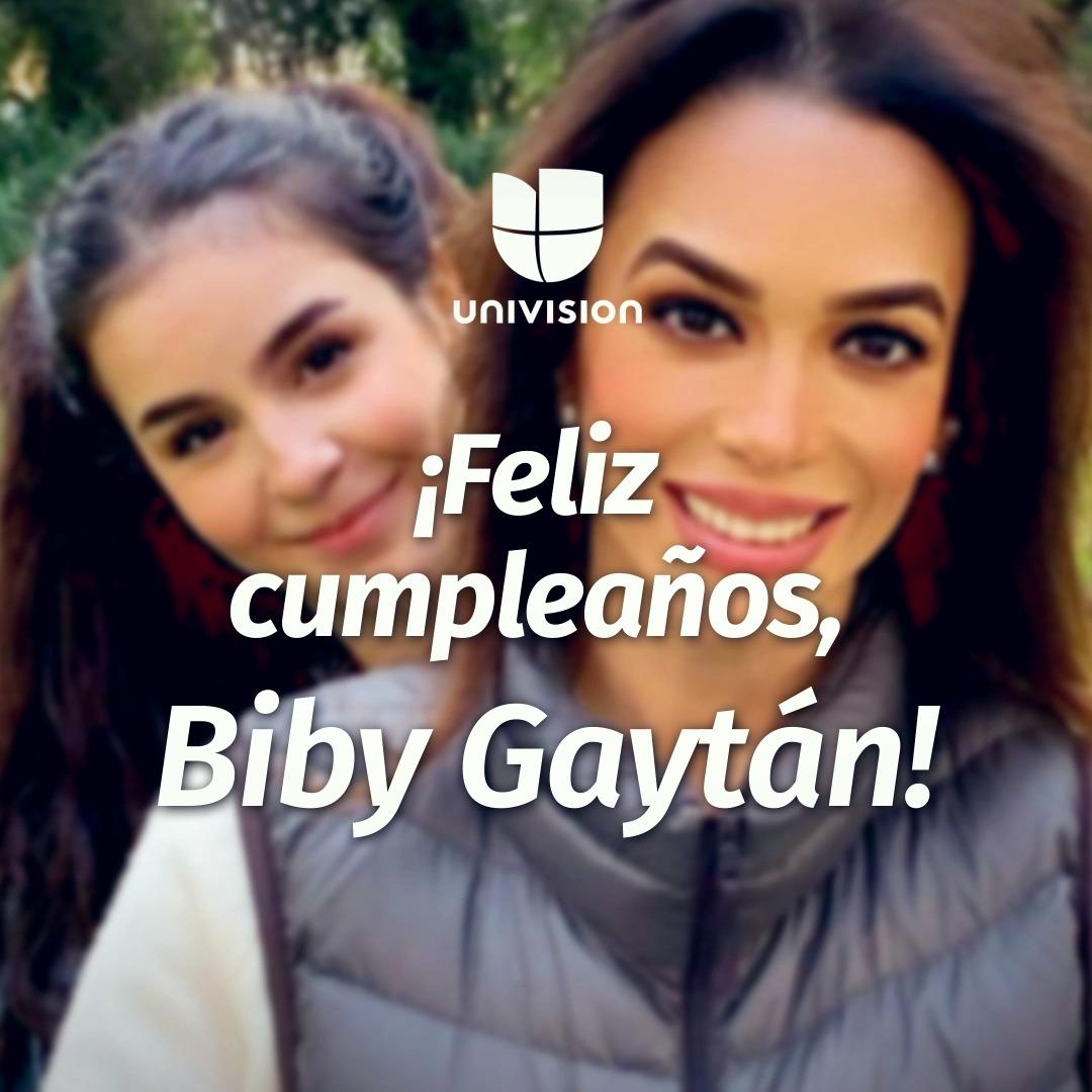 #BibyGaytán está de manteles largos porque hoy celebra un año más de vida. ¡Felicidades! 🥳🎁🎂🎉