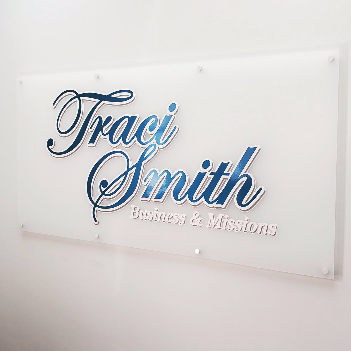 Make your business's walls pop with your logo on frosted glass!  #fastsignsdidit #fastsigns207 #logo #frosted #smallbusiness #branding