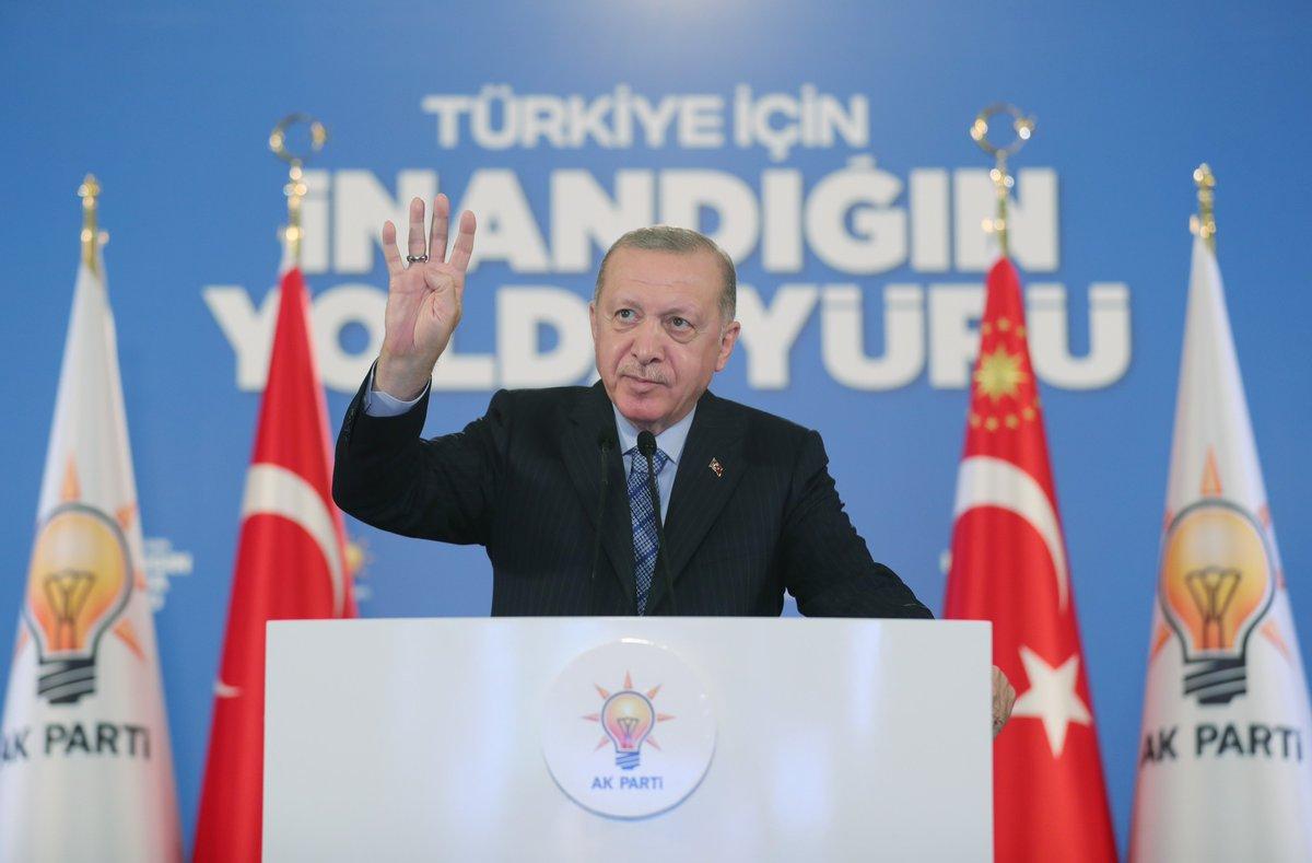 Genel Başkanımız ve Cumhurbaşkanımız Recep Tayyip Erdoğan, Erzincan ve Erzurum 7. Olağan İl Kongrelerimize canlı bağlantı ile katıldı. #İnandığınYoldaYürü