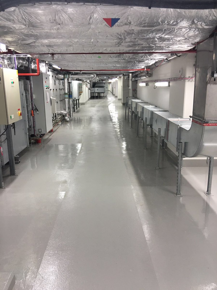 #Throwback to an installation of @mr_riw Toughseal to newly installed plant room, providing a hard wearing epoxy floor coatings capable of retaining any leaks.  #waterproofing #RIW #toughseal