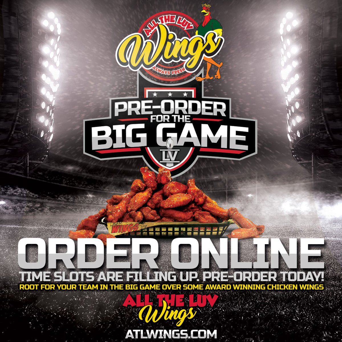 WIN A SUPER GIFT CARD for THE BIG GAME FEB 7, 2021! Simply retweet and FOLLOW @atlwingsAZ and have a chance to win a $250 gift card --- now that is a LOT of WINGS! Winner will be announced on Feb 4th. https://t.co/uMVvLYEiSK