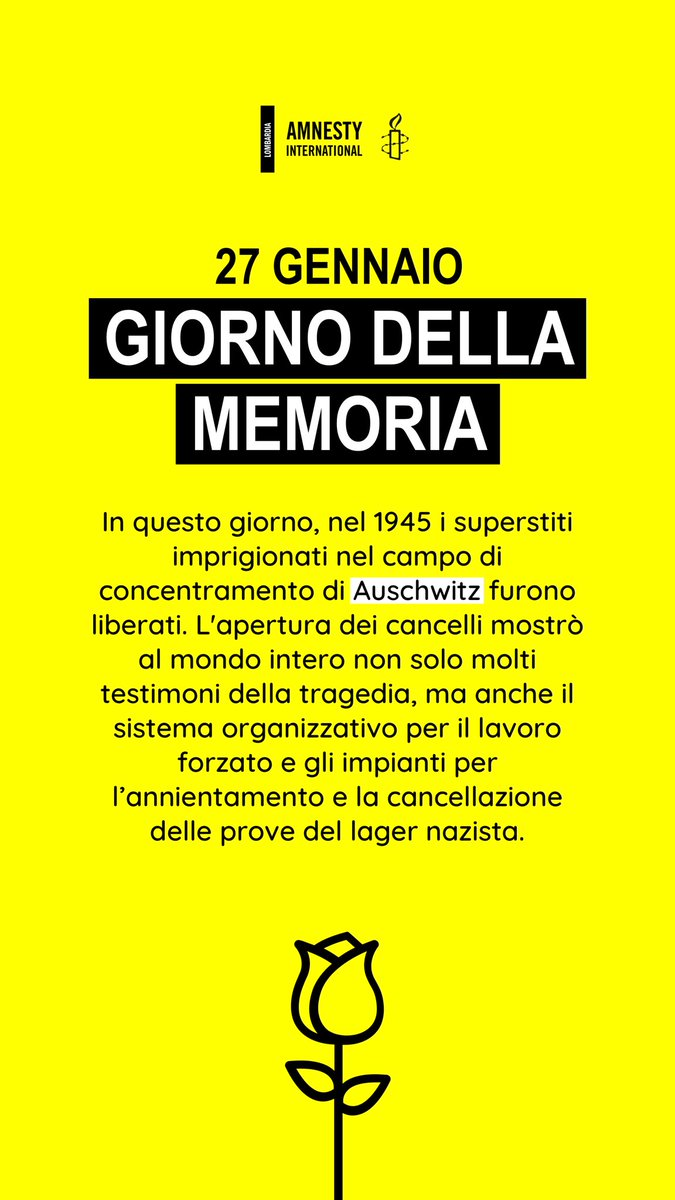 #HolocaustRemembranceDay #GiornodellaMemoria @amnestyitalia