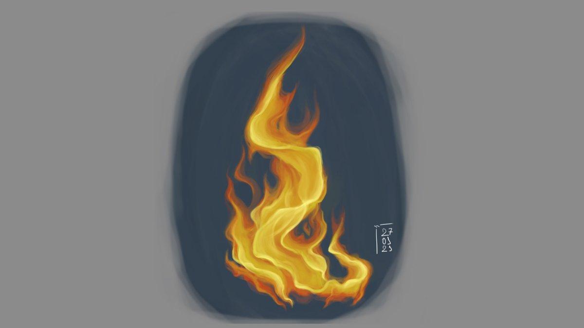 Done :D Just a few touch ups that makes a huge difference  #digitalart #digitalpainting #artist #femaleartist #artistsontwitter #fire #painting #drawing #doodle  #study #sketch #desenho #pintura #pinturadigital