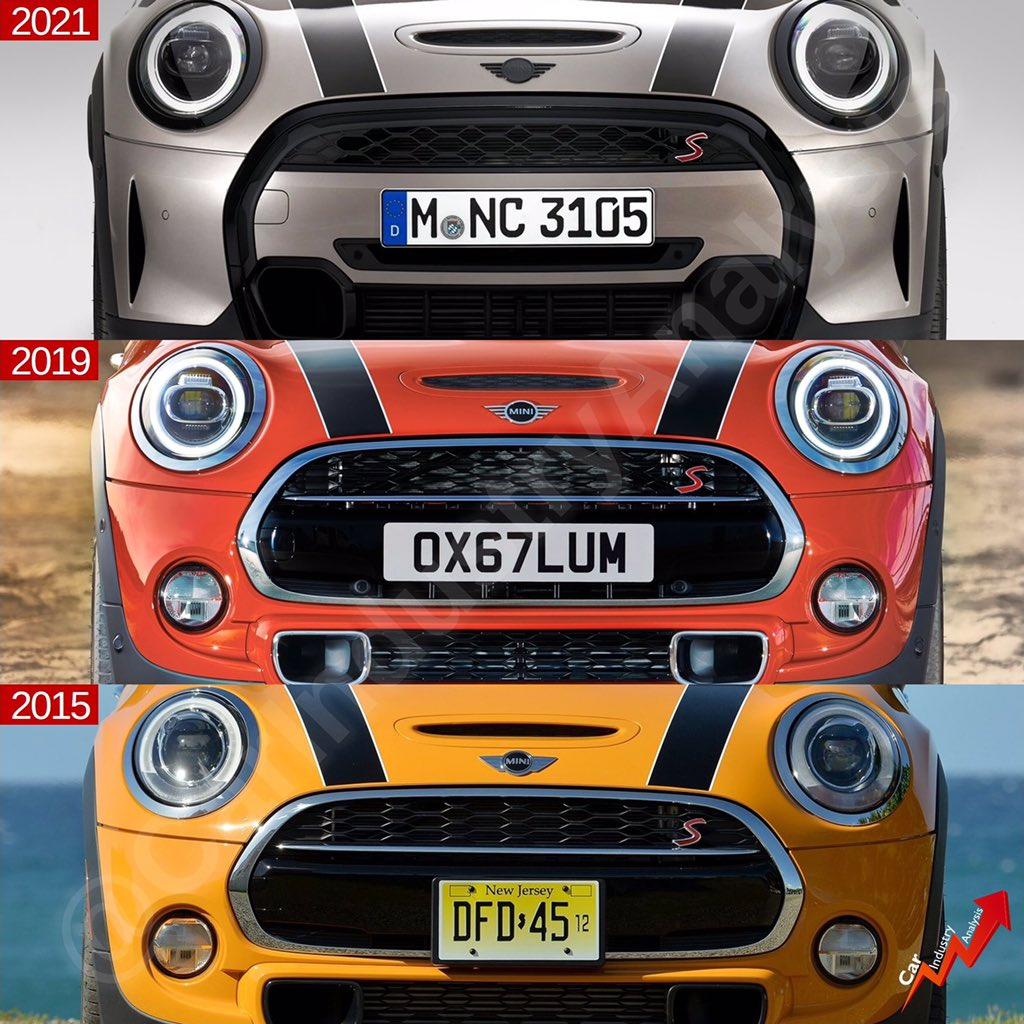Another facelift for the Mini Hatch F56 (third generation). It will the last update before the all-new generation hits the showrooms in 2023. Although it is an awesome car, the facelifts have taken it away from the original concept. Don't you think? #mini #minihatch #minicooper