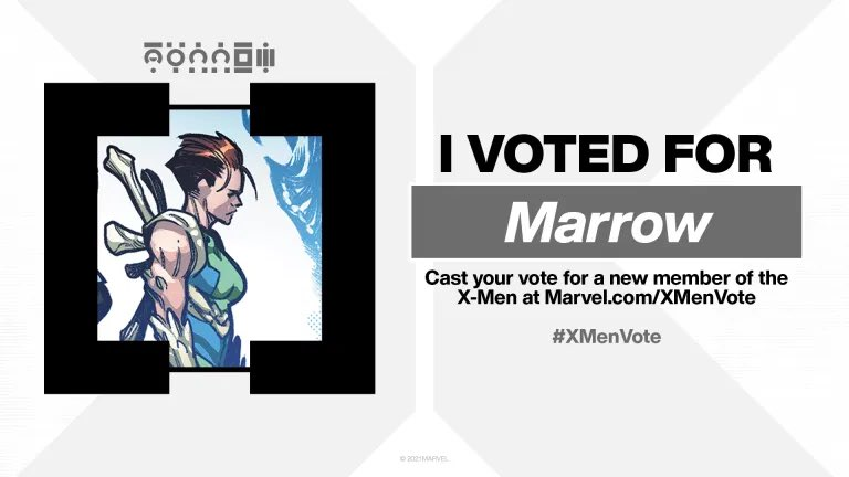 Because she's bad to the bone, geddit?   I'll get me coat. Vote Marrow. #XMenVote