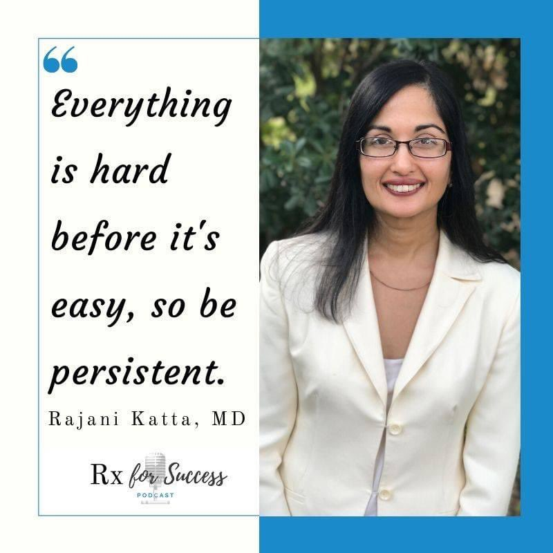 Take chances, make mistakes.  That's how we #learn & #grow.  Great advice from Dr Rajani Katta! Click the link to enjoy this great interview!  #MedTwitter #MedStudentTwitter #meded #somedocs #WomenInMedicine  Subscribe today @