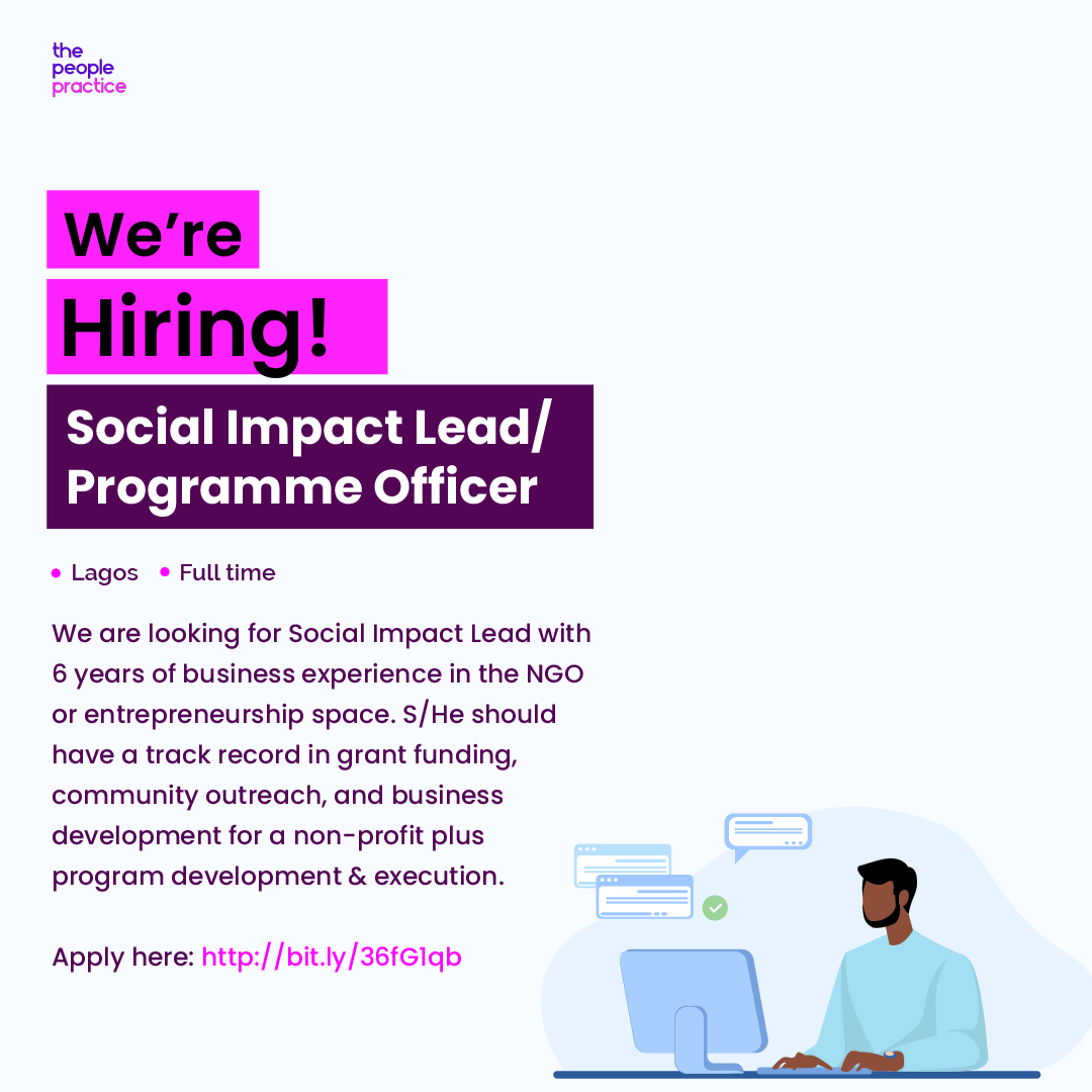 #JobAlert Do you have 6 years of business experience in the NGO or entrepreneurship space?  A track record in grant funding, community outreach, business development for non-profit + mastery of program development and execution?  Apply here:  #Socialimpact