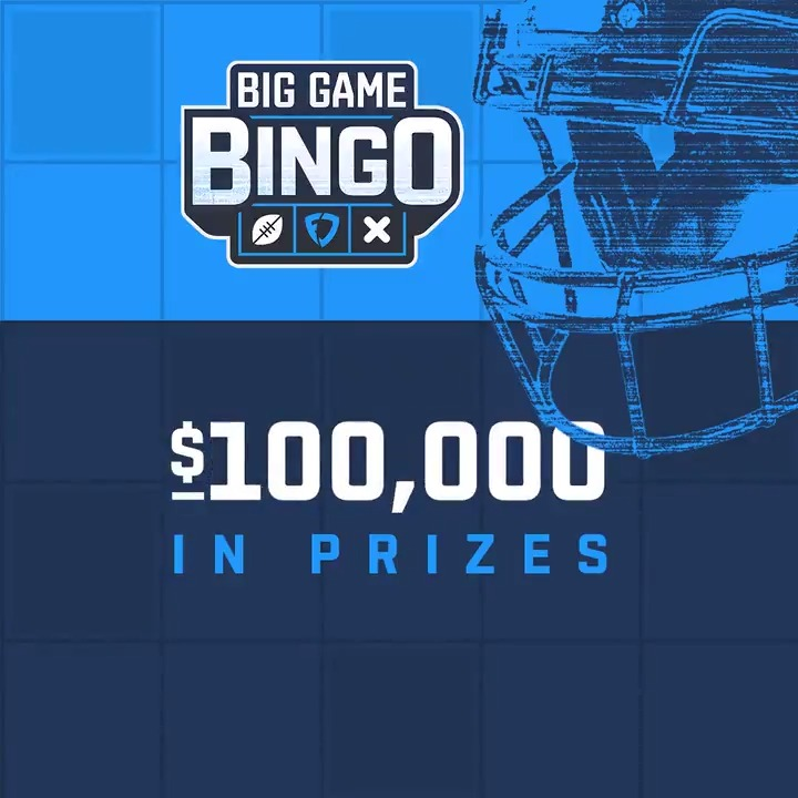 #FanDuelBingo is back for the BIG Game 🙌  To win, just get 5 squares in a row in any direction, then tap or click Call BINGO!  Get your FREE card ➡️