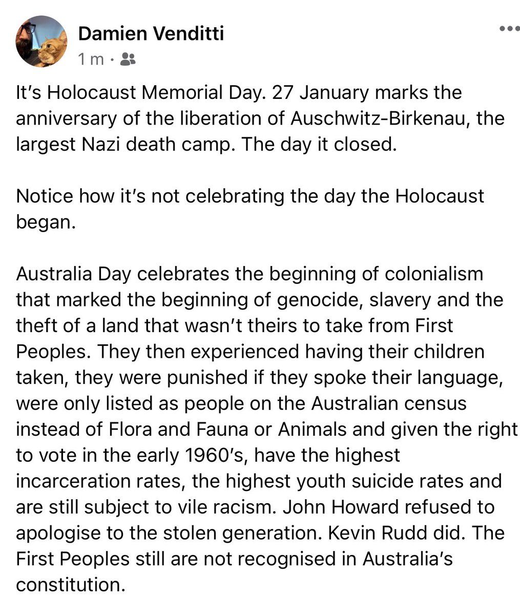 Australia has a lot to learn #AustraliaDay #AlwaysWasAlwaysWillBe #HolocaustMemorialDay #HolocaustRemembranceDay