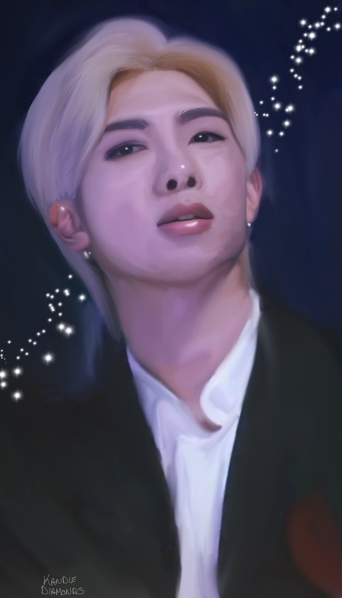 #Namjoon Paint.  I hate when he covers his mouth, so i wanted to do a piece that showed it off beautifully.  #BTS #BTSARMY @BTS_twt #digitalart #digitalpainting #btsart #BTSfanart #RM #joonie #thankyoubts