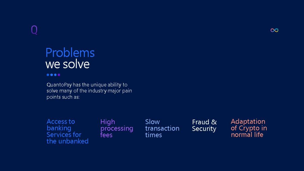 #Problems we solve! 🚀💡  #crypto #fintech #blockchain #money #bitcoin #forex #ico #btc #binance #fintechsyariah #ieo #challengerbank #neobank #payments #visa @Contis_   @luchogarcia14 @TheRealSalgado @Oficial_RC3 @PatrickKluivert