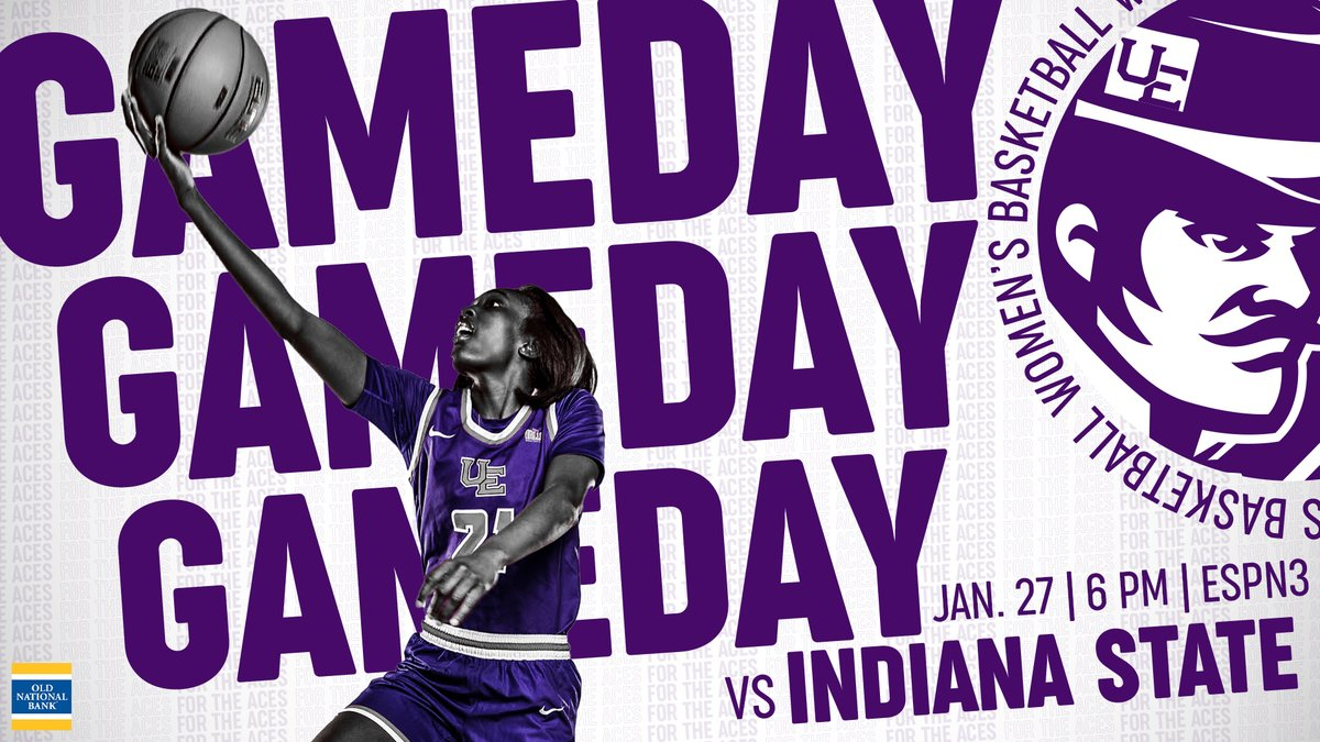 GAME DAY!  🆚 Indiana State ⏰ 6 PM 💻 https://t.co/OdWmKcOerH (ESPN3) 📱https://t.co/K85YzT2eqK 🏀 #ForTheAces https://t.co/iDOMkhhpK4