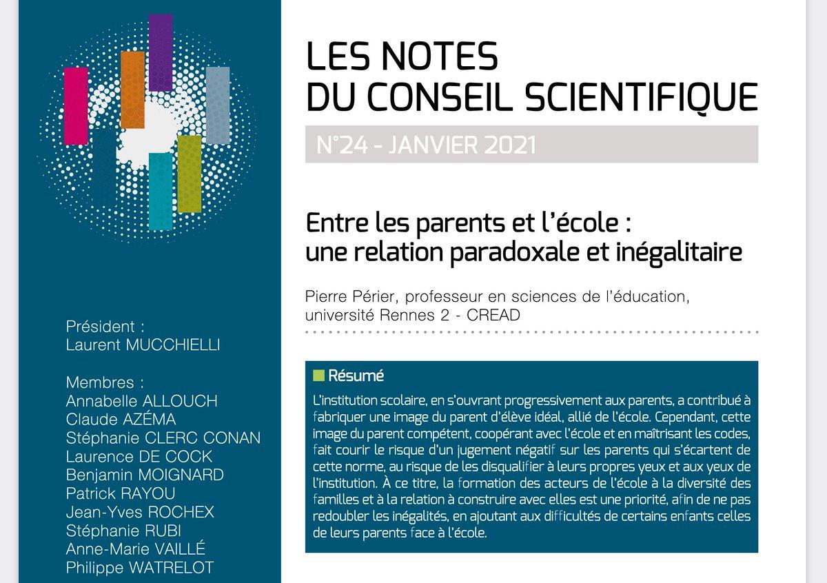 """test Twitter Media - A lire, la note du conseil scientifique de la #FCPE publiée en janvier """"Entre les parents et l'école : une relation paradoxale et inégalitaire"""" par Pierre Périer https://t.co/8Bx4SGJ8uS https://t.co/2nrAlP3oxL"""