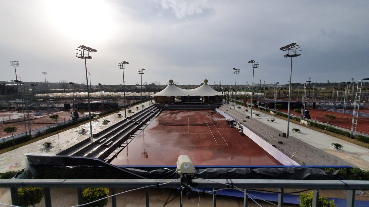 Weather update 🌧  After four days of nonstop rain, the sun is out and play is finally underway in Antalya. Singles qualifying to be completed today, followed by a packed Thursday slate. https://t.co/ex1arjvSU5
