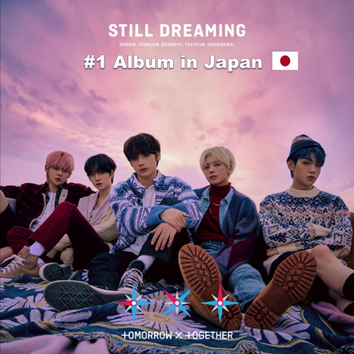 Korean Star Band, #TXT, rockets to #1 on the Oricon Album chart with their 1st full length Japanese Album #StillDreaming!👊💿🚀🥇🇯🇵🔥👑👑👑👑👑💜 https://t.co/CgvqqkADvg https://t.co/EnsEoZ5Prh