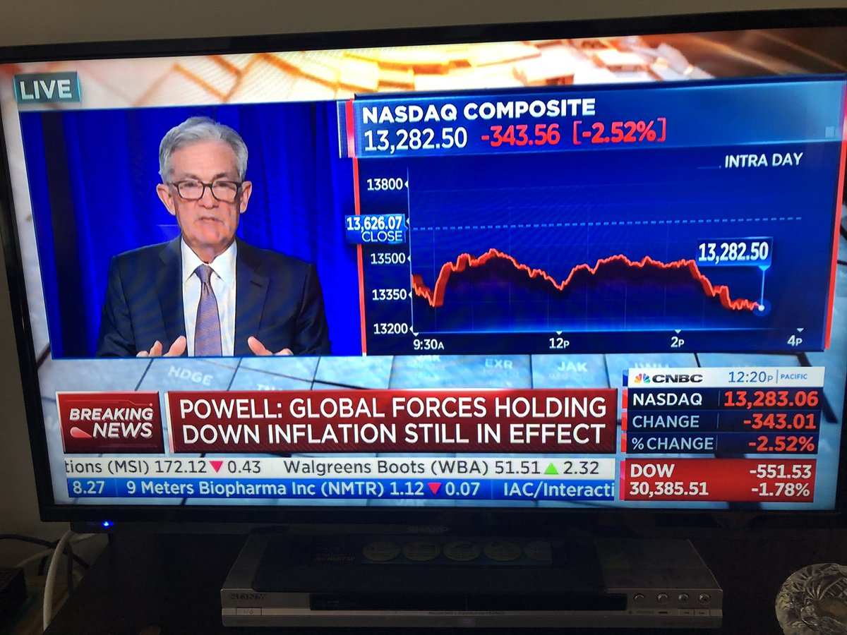Fed Chair J. Powell is addressing our nation and holding a press conference now and other TV channels are reporting on the weather 🤔#usEconomy #federalreserve #CNBC