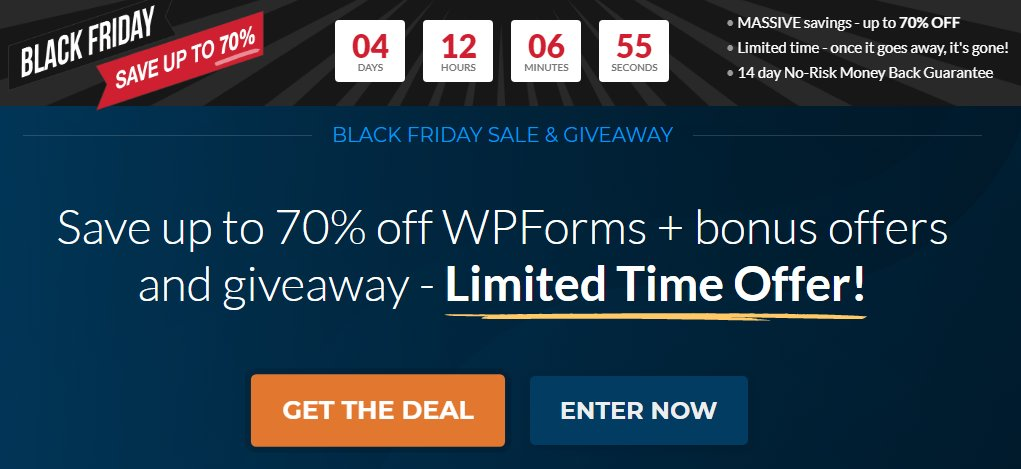 Upto 70% OFF Crazy savings with WPForms this season. Few days more to end promotion.  #BlackFriday2020 #BlackFridayDeals #BlackFriday  Go to ==>>  RT @enstinemuki