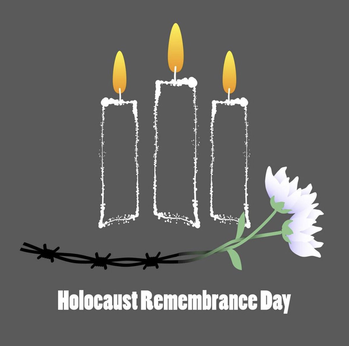 #HolocaustRemembranceDay remembering the more than 6 million Jewish people that lost their lives during the Holocaust. May we never loose our awareness of #Antisemitism , #racism and on our own little ways try to counteract it in our lives