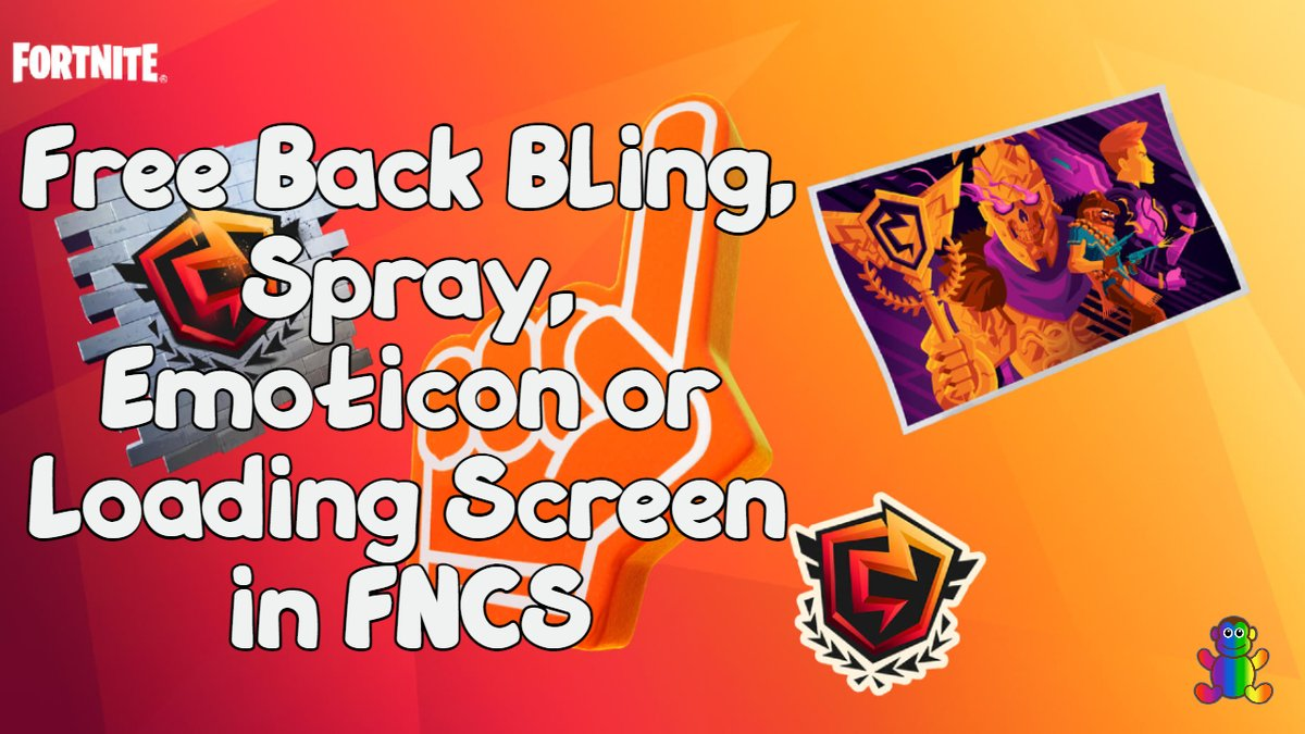 How to get Free Back Bling, Spray, Emoticon or Loading Screen in FNCS #Fortnite #ad