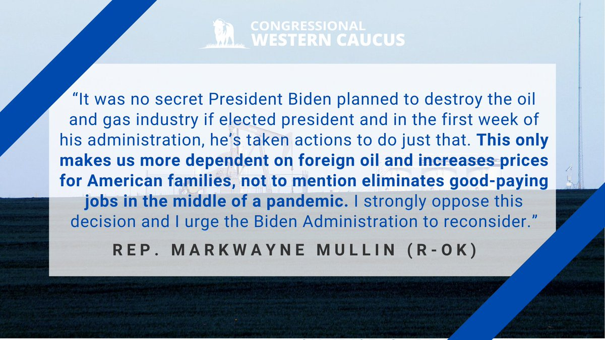Replying to @westerncaucus: From @RepMullin: