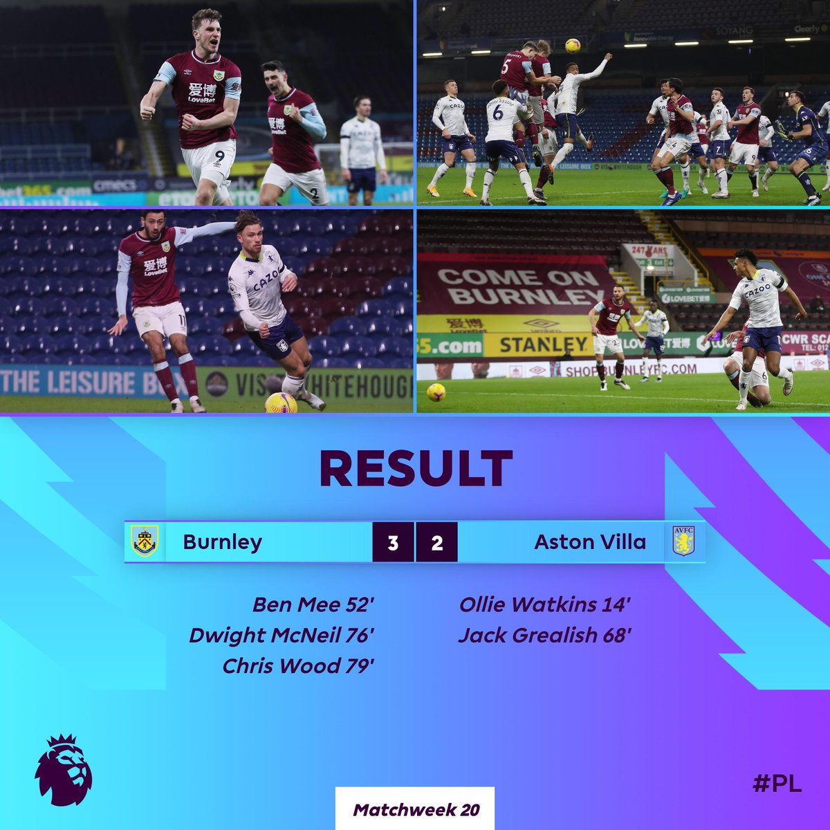 Replying to @premierleague: Burnley fight back to secure back-to-back #PL wins for the first time this season  #BURAVL