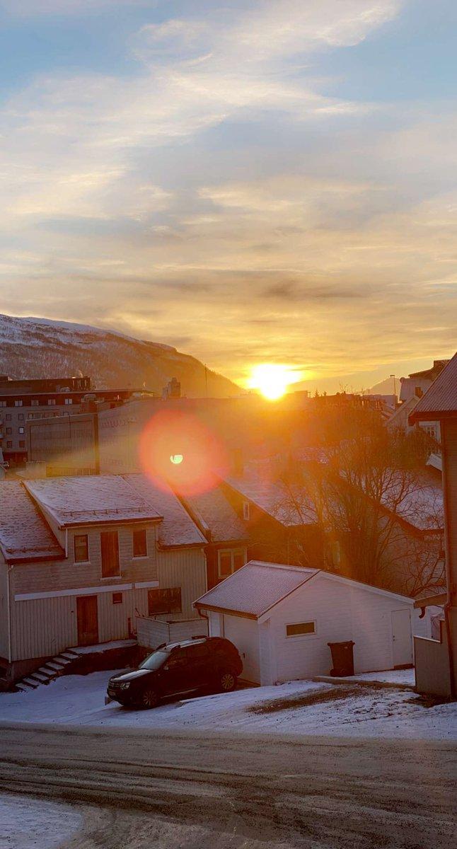 @dionnewarwick The sun returning after 2 months gone - in Tromsø, Norway. #Dionnewarwick