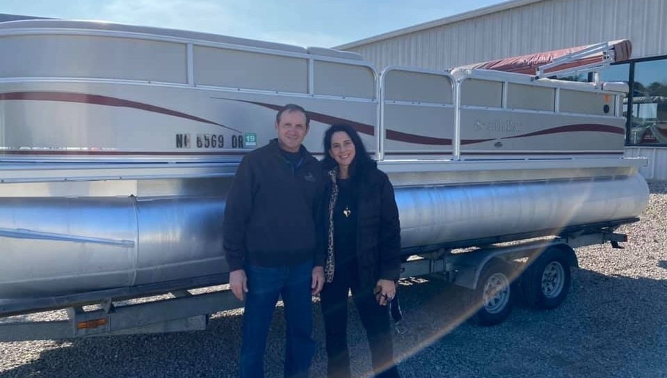 Kipp Thompson and Team Chatlee would like to thank the Mascolo Family for their business and congrats on the your  South Bay pontoon!   #chatleemarine #chatleeboats  #pontoonboats #sweetwater #godfreypontoons #boating #boats #lake #beach #lakelife #familyfun #watertaxi