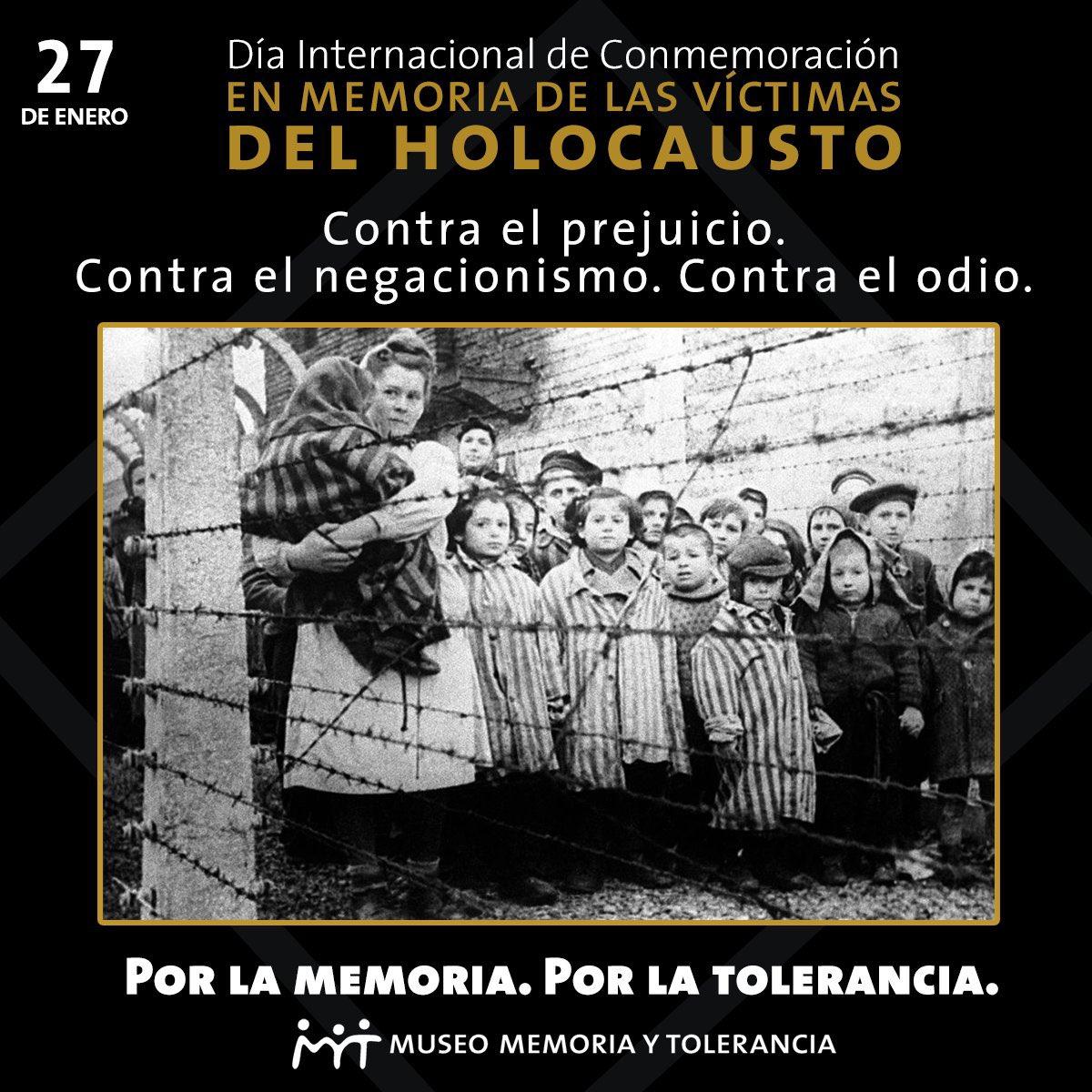 Hoy recordamos a las víctimas del holocuasto. 27 de Enero 1945 liberaron Auschwitz . 🌸 #nuncamás #WeRemember