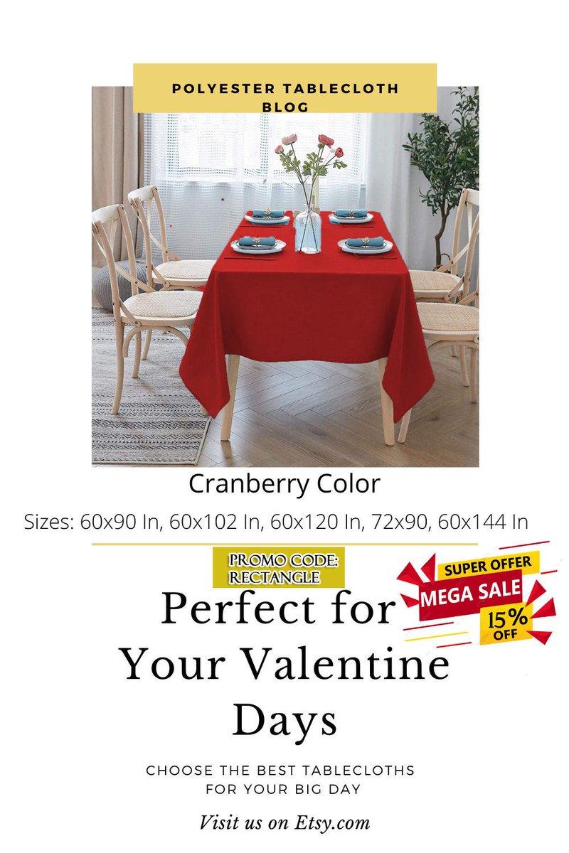 "Cranberry Rectangular polyester tablecloth 72""x90"" Linen tablecloth, tablecloth factory, rectangular tablecloth sizes, outdoor tablecloth  #thanksgiving #rectangle #linen #tablecloth #fabrictablecloth"