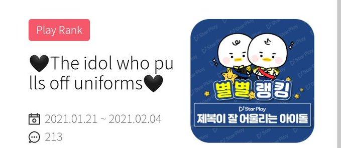 [#VOTE] • Votem no #JENO pelo Starplay na categoria 'The idols who pulls off uniforms'   🗓️ 21 de Jan. até 04 de Fev. 🥇 CM Board na estação de Seul, notícias online   • iOS:   • Android:   @NCTsmtown_DREAM #NCTDREAM