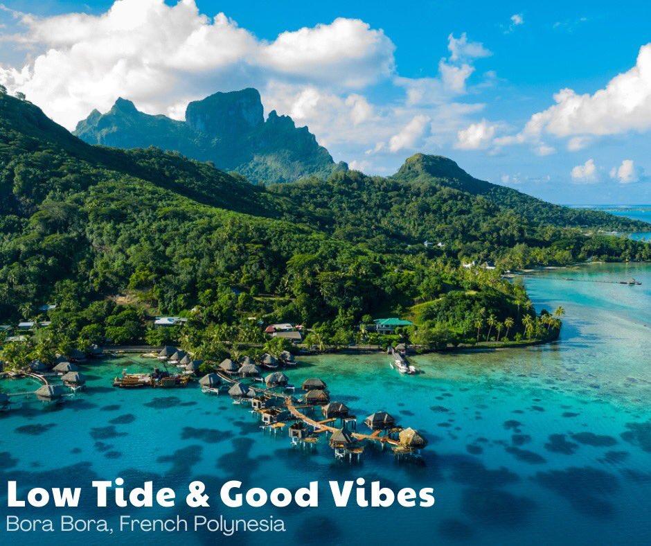 Visit the island paradise, where travelers enjoy sapphire blue skies, crystal clear water, soft white sandy beaches, and seclusion.  #borabora #tahiti #trip #vacation #travel #romance #luxury #luxurytravel #views #hotel #overwaterbungalow @tahititourisme #beach #food #gourmet