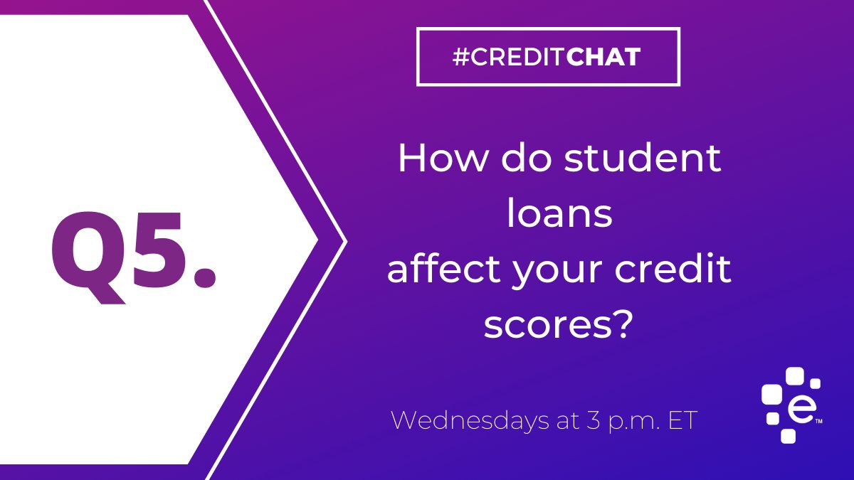 Q5: How do student loans affect your credit scores? #CreditChat