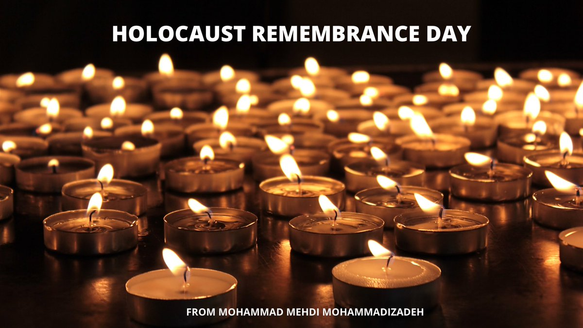 Today is Holocaust Remembrance Day , Thousands of innocent Jews were discriminated against and racist , this evil act was committed by the Nazis, we are with you Jews and we condemn this act, we support you and Israel  do ! #HolocaustRemembranceDay , #NeverAgain