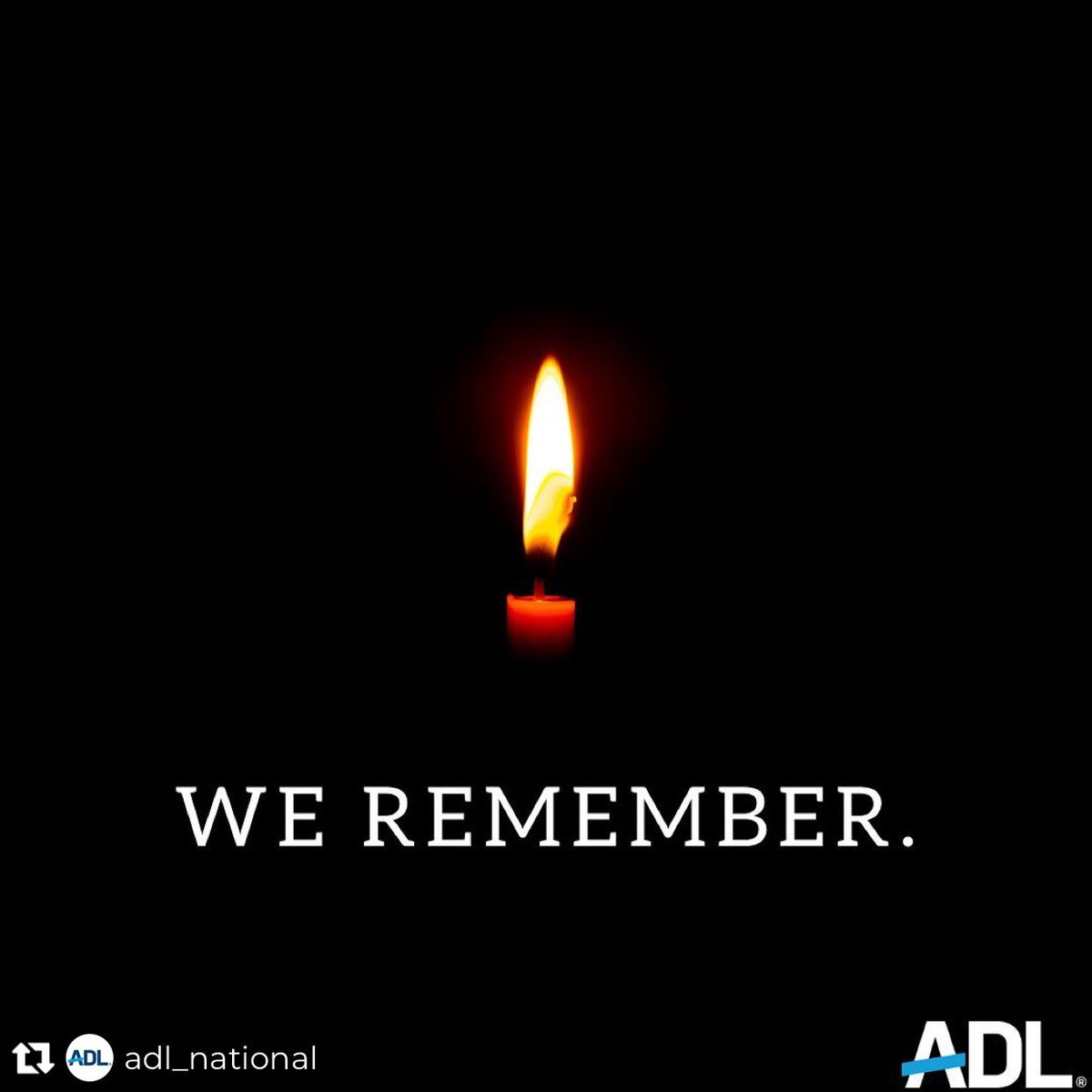 #NeverAgain 🤍-Bellen Repost from @adl_national • As today marks #HolocaustRemembranceDay, we pause and #WeRemember. We remember the millions of innocents who lost their lives. We remember to carry on the stories of survivors. We remember to ensure #NeverAgain
