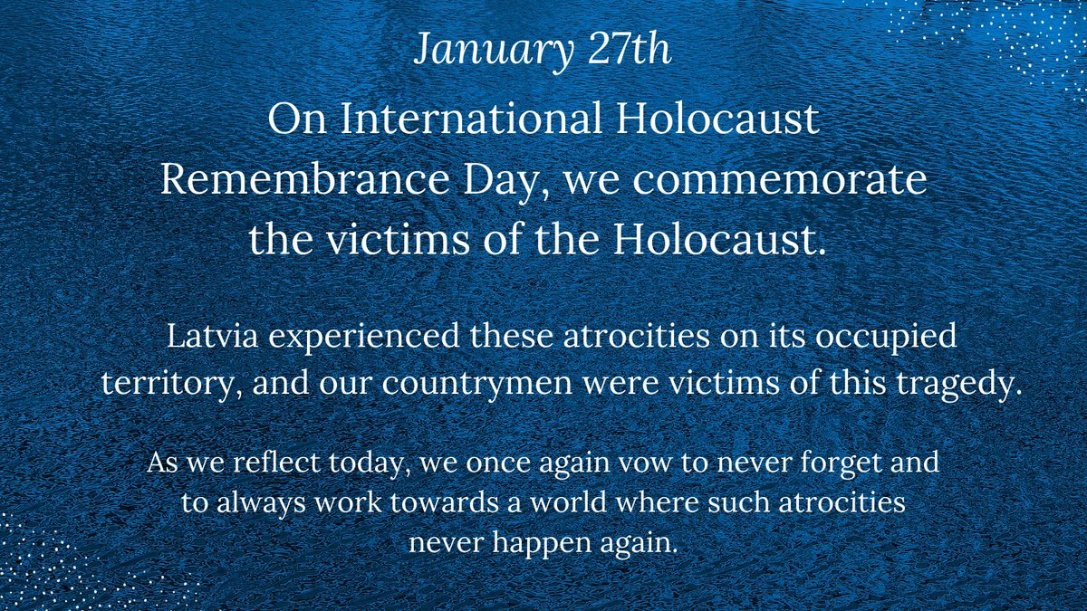 Today #WeRemember as we commemorate International Holocaust Rememberance Day. #NeverForget #NeverAgain