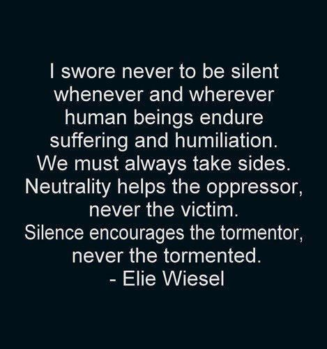 #HolocaustRemembranceDay reminds me that atrocities are still happening around the world.  We, as people, NEEDS to stand up and say #NeverAgain.  Enough is enough!  #WeRemember #SpeakOut
