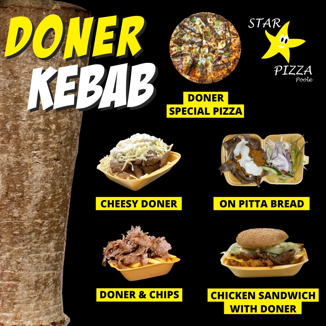 How would you like to have your #doner today? Doner on Pitta with Salad and Sauces of Your Choice (M, L or XL) Doner #Wrap Doner & #Chips #Cheesy Doner #ChickenShish & Doner #LambShish & Doner #KofteKebab & Doner More options: https://t.co/JdDmhEdl6K  #Bournemouth #Poole https://t.co/zCRMrs23Ty
