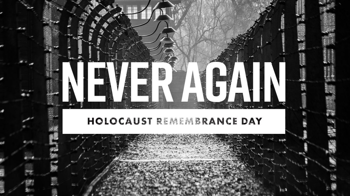 We remember today, and everyday, the 6 million Jewish martyrs killed in the Holocaust and the soldiers of allied nations who sacrificed everything to rid the world of the Nazi regime. #NeverAgain #HolocaustRemembranceDay