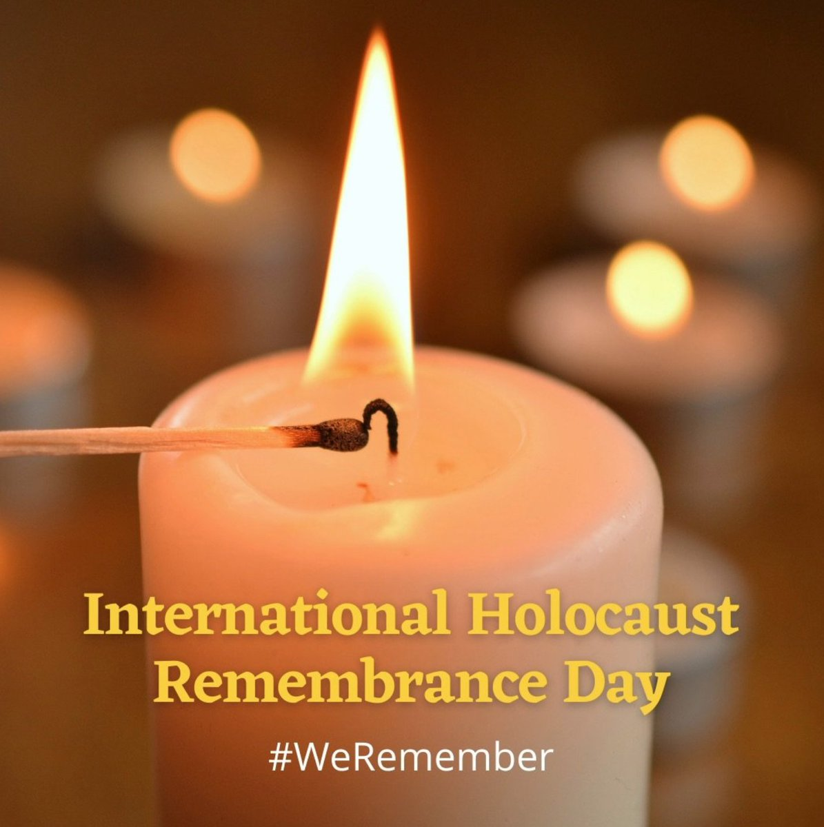 Today we remember the 6 million Jewish lives lost and the millions of others who were murdered by the Nazi regime. We must continue to share the stories of Holocaust victims and survivors. #NeverAgain #HolocaustRemembrance