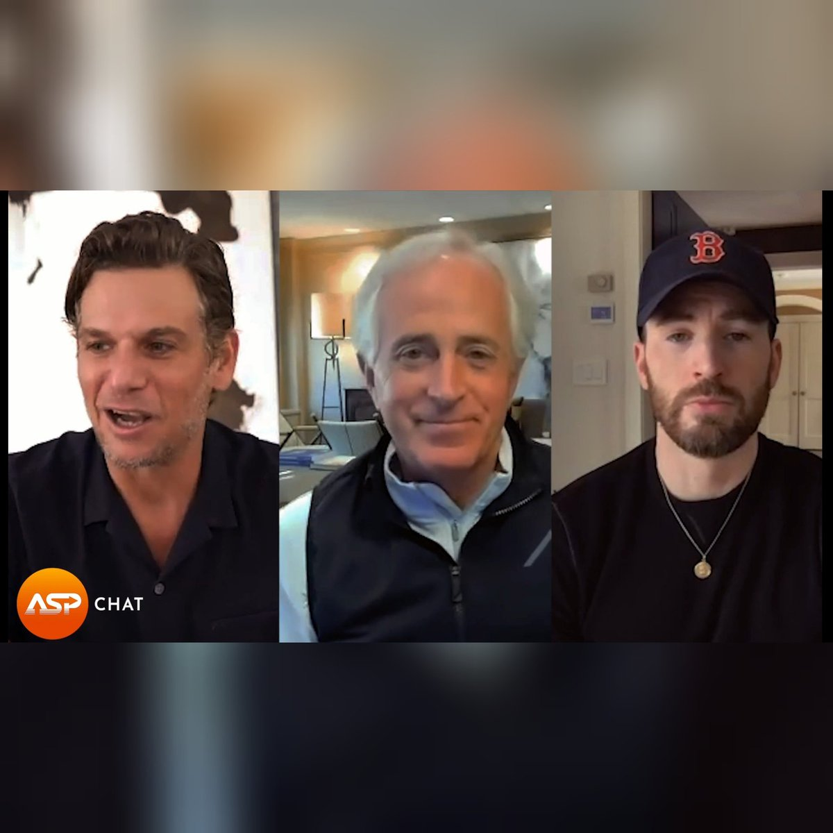 NEW #ASPChat @ChrisEvans, @MarkKassen, and former @SenBobCorker discuss bipartisanship, President Biden's foreign policies, and more.   Watch the full #ASPChat on @ASP site and app  Screenshots by me